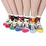 Intype Frauen K-Pop Star Socken (6-8,5-Bunt