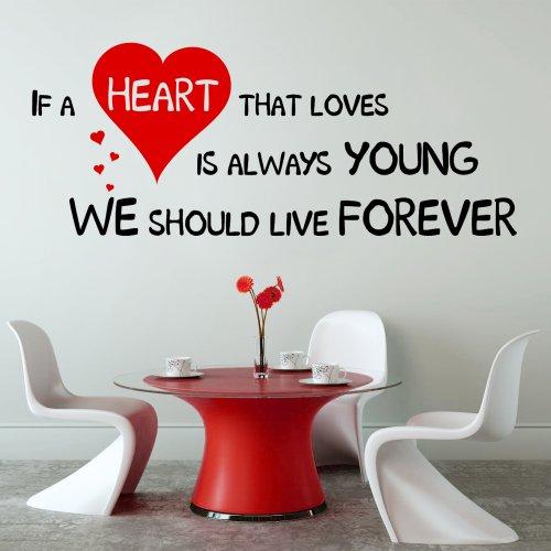 Wenn Ein, Die Das Herz Love Is Always Young Wandaufkleber, Für Schlafzimmer/