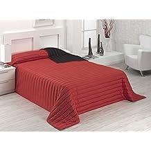 Sabanalia Tutto - Colcha de invierno (disponible en varias medidas y colores) - Cama 105 - 200 x 270, color rojo / negro