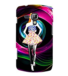 ANIMATED WESTERNISED GIRL 3D Hard Polycarbonate Designer Back Case Cover for Samsung Galaxy S Duos S7562