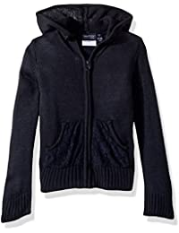 Nautica Girls' Lace Pocket Hoodie Sweater