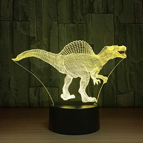 Dengjiam Day Deal Dinosaur Led Lamp Usb 3D Lampada 7 Colori Touch Sensor Camera Da Letto Luci Decorazione Dell'Atmosfera Illuminazione Novità Novità