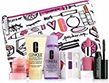 KISSES FROM CLINIQUE - EXCLUSIVE CLINIQUE GIFT SET, DRAMATICALLY DIFFERENT MOISTURISING LOTION, ALL ABOUT EYES RICH, TAKE THE DAY OFF, MASCARA, LIPSTICK AND EYE SHADOW ALL IN A GORGEOUS MAKEUP BAG