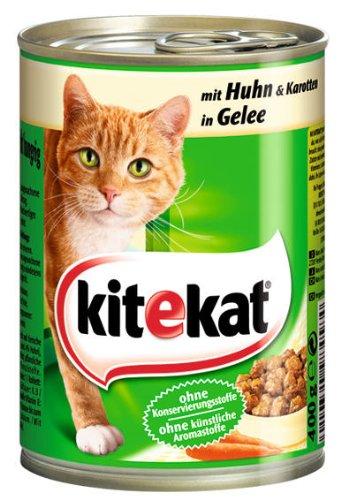 Kitekat Dose mit Huhn und Karotten in Gelee 12x400g - - Dosen Kitekat Katzenfutter