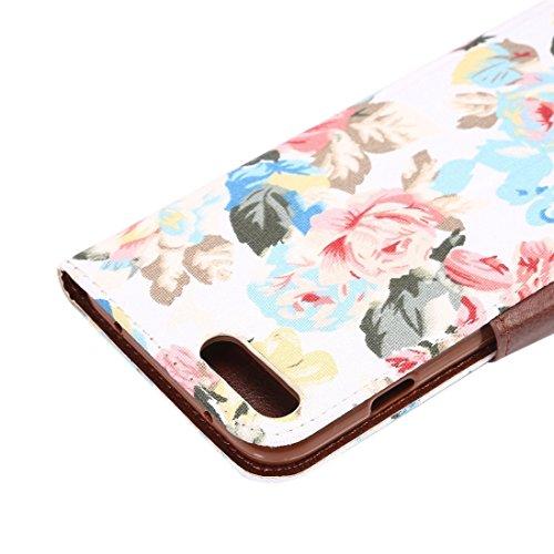 Für iPhone 7 Plus Baumwolle Druck Textur Horizontale Flip Leder Tasche mit Card Slot & Halter, Kleine Menge Empfohlen vor iPhone 7 Plus Starten, zufällige Muster Lieferung by diebelleu ( Color : Blue  White