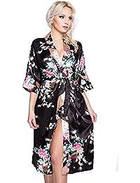 suchergebnis auf f r kimono schwarz lang damen bekleidung. Black Bedroom Furniture Sets. Home Design Ideas
