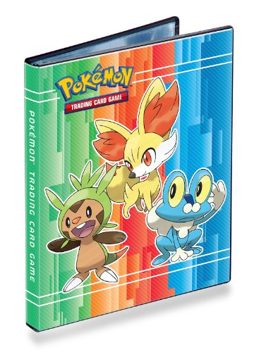 Ultra-Pro 4-Pocket Pokemon Card Binder/Portfolio ft. Chespin, Fennekin and Froakie from X and Y! (Album Holds 40-80 Cards)  available at amazon for Rs.6399