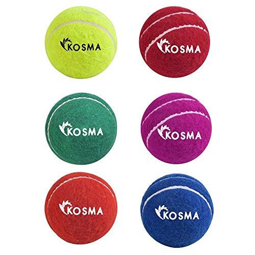 Kosma Unisex-Youth KG-26092 Cricketball, Gelb, Grün, Blau, Orange, Rot, Magenta, Einheitsgröße