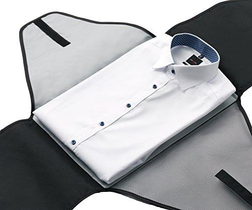 ALPAMAYO® Hemdentasche für knitterfreie und faltenfreie Hemden auf Reisen für den Transport von Hemden im Koffer, Handgepäck oder Reisetasche, schwarz schwarz-grau