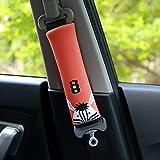 PUSHIDE 2 Stück Gute Qualität Auto Sicherheits Sicherheitsgurt Schulterpolster Schulterkissen Autositze Gurtpolster für Kinder und Erwachsene D