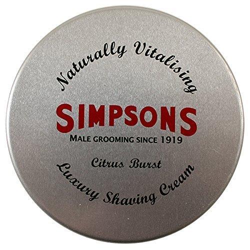 Essential Shave Cream (Simpsons Shaving Cream, Citrus Burst, 125 ml Tin by Shaving Cream)