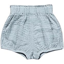 Venta caliente !Ropa para niños, FeiXiang♈Bebé niño lindo bebé niña pantalones cortos pantalones polainas color sólido patrón pijamas de verano (24M, Azul)