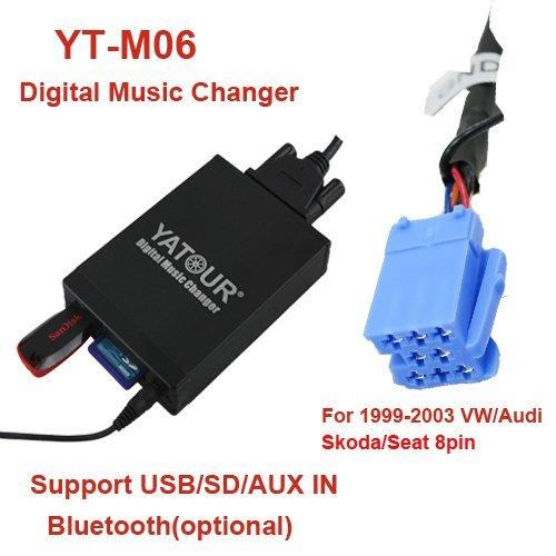 Yatour YT-M06-NIS Digitaler Musikadapter USB SD AUX Adapter für Nissan Almera(Tino),Primera, Micra, Navara,Note, Qashqai