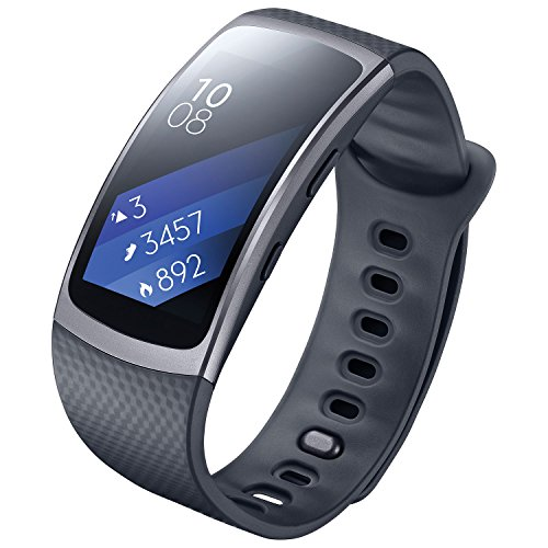 Samsung Gear Fit 2 SM-R360 - Smartwatch de 1.5'' (4 GB, 1 GHz, 512 MB RAM, Tizen, talla S), color negro [Asia Version]