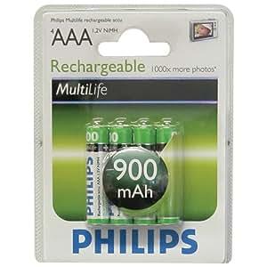 Philips Multi Life NiMH Akku AAA Micro 900 mAh 4er Pack