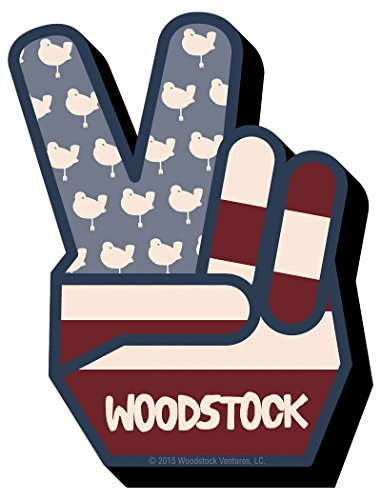 Woodstock Peace Chunky Magnet -