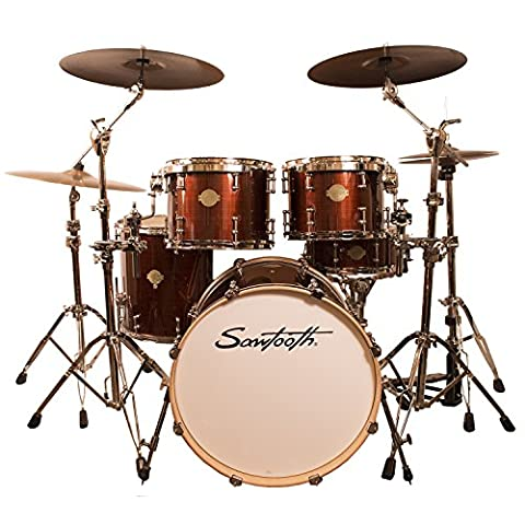 Sawtooth ST-COM-5PC-RS Command Series 5-Piece Shell Pack, Red Streak