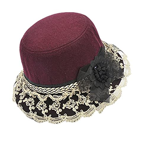 Hat decorated Xagoo with flowers and lace for woman for