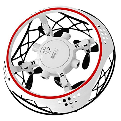 AEROBATICS - Mini Drone Pieghevole con Telecamera HD 1080P, quadricottero radiocomandato a Distanza con Follow Me, Bianco,