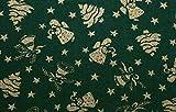 Baumwollstoff 140cm breit • Stoff Weihnachten • 9 Motive zur Auswahl (Engel grün)