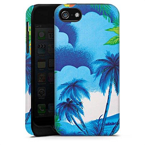Apple iPhone X Silikon Hülle Case Schutzhülle Urlaub Palmen Hawaii Tough Case matt