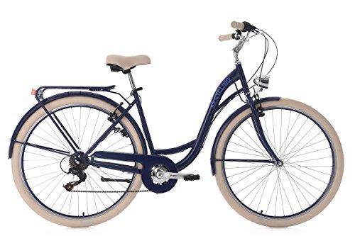 KS Cycling Damen Damenfahrrad Balloon RH 48 cm Fahrrad, Blau, 28