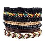 Best Cadeaux personnalisés Wraps main - MJW&SL Homme Femme Bracelets en cuir Bracelets Bracelets Review
