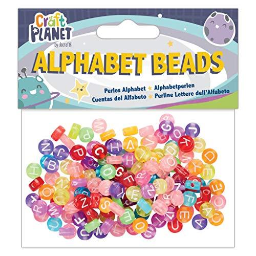 Alpha Alphabet Bead (Craft Planet Perlen, mehrfarbig, Einheitsgröße)