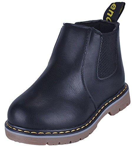 WUIWUIYU Bébé Fille/Garcon Booties Chelsea Boots avec Fermeture éclair Latérale