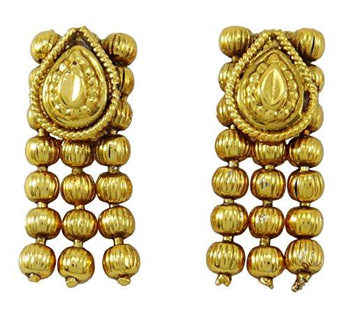 Banithanigoldtone ethnique sud indien collier de style jeu de boucle d'oreille de bijoux Or