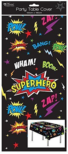 1 Oblong Plastic Children's Party Tablecloth Table Cover 120×180 Boy's Superhero