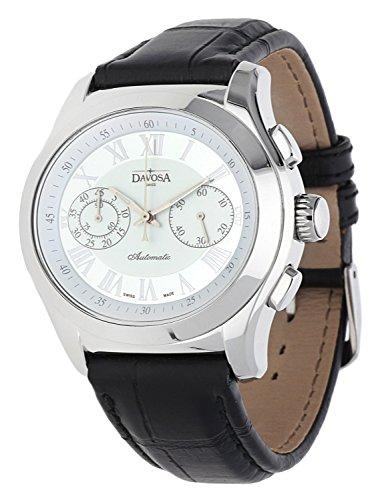 Davosa Swiss Femmes Montre Oval Chronograph Edition Noir 161.430.12-57361