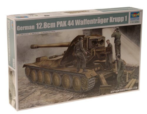 Imagen principal de Trumpeter 05523 PAK 44 Waffenträger Krupp 112,8 cm - Tanque en miniatura (escala 1:35)