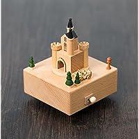 Preisvergleich für Baby-lustiges Spielzeug Kreative Holz Handwerk Mini Prinzessin Schloss Spieluhr für Geburtstagsgeschenk