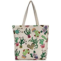Huyizhi Outdoor Storage Female Canvas Shoulder Shopping Bag School File  Travel Beach Handbag Cactus from 40f29a9a08