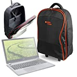 DURAGADGET Lightweight Laptop Trolley Bag With Heavy Duty Telescopic Handle for Acer Aspire