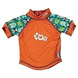 Close Parent 25877 - Camiseta de baño con protección UV, diseño Monster Herman, talla M (12-18 meses), color verde
