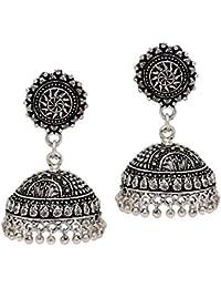 Jaipur Mart Jhumki Earrings for Women (Silver)(GSE539SLV)