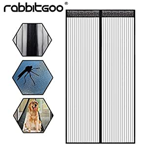 rabbitgoo sommer aktuellste insektenschutzvorhang magnetvorhang fliegengittert r moskitonetz. Black Bedroom Furniture Sets. Home Design Ideas