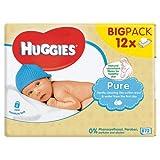 Huggies Pure Toallitas para Bebé - 12 Paquetes (56 unidades por paquete)