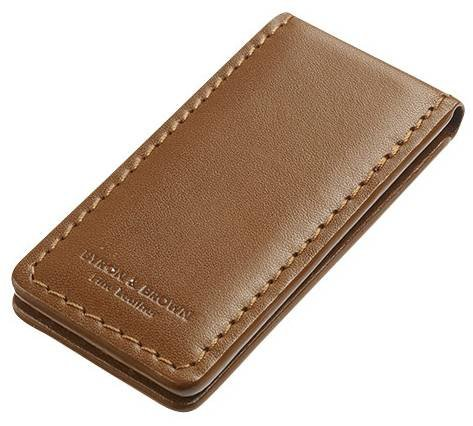 Byron and Brown Leather Money Clip