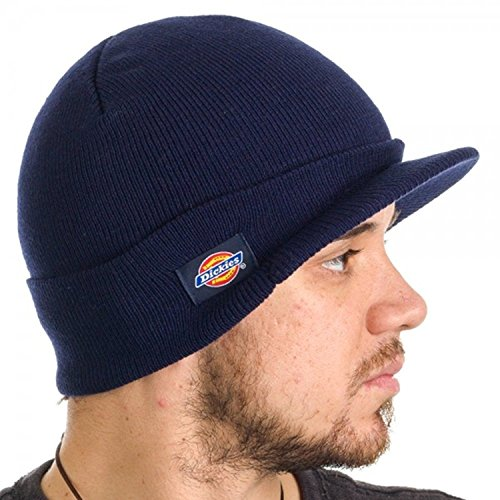 Dickies Men's Core 874 Billed Knit Radar with Cuff Beanie (Navy)