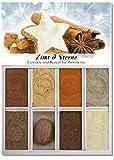 Zimt & Sterne – 8 Gewürze für Zimtsterne (58g) – in einem schönen Holzkästchen – mit Rezept und Einkaufsliste – Geschenkidee für Feinschmecker – von Feuer & Glas