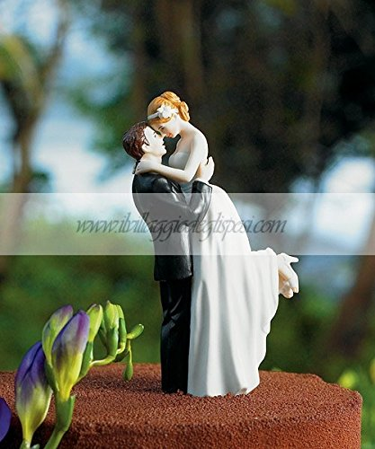 Sposa in braccio allo sposo - Sposo In Porcellana Wedding Cake Topper