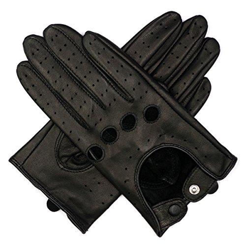 Harssidanzar Damen Leder Handschuhe fahren Ungefüttert Touchscreen (Damen Leder Handschuh Touchscreen)