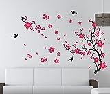 Plum Blossom e piante in vaso modello Wall Stickers Wall Background vetrofanie aderisce Sticker TV della decorazione della parete decorativo per Camera da letto Soggiorno Finestra di visualizzazione Decor (1 set di 2)