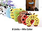 #4: 0-Degree 8 Units Mix Color Premium Door Stopper Finger Pinch Guard And Accidental Door Lock Protection For Baby Safety Made Of 1.2 Cm Thick Foam