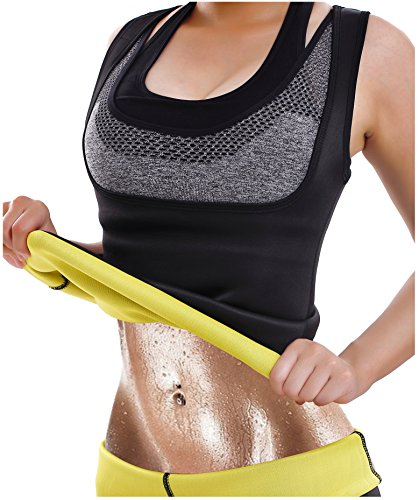 Hot Thermo Schweiß Neopren Shapers Slimming Gürtel Taillenmieder Girdle für Gewicht Loss (Small, Schwarz) (Tee T-shirt Über)