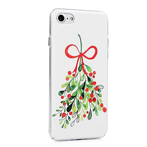 """Lanveni Coque Apple iPhone 7(4.7"""") - [PC Plastique] Housse Cover Case de Protection Complètement [Antichoc][Anti-poussière][Ultra fin Léger Dessin Coloré] - Dentelle Fruits Naturel"""