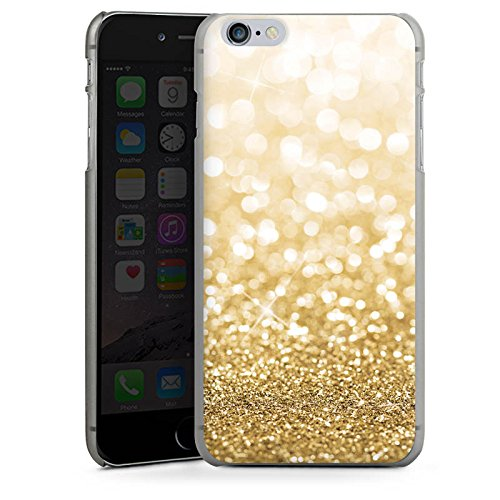 Apple iPhone X Silikon Hülle Case Schutzhülle Glitzer Look Staub Gold Hard Case anthrazit-klar